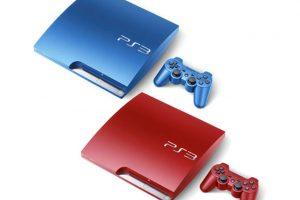 Sony готовит красный и синий вариант консоли  PS3 Slim